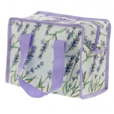 Lavender Design Zip Up Recycled Plastic Reusable Lunch Bag