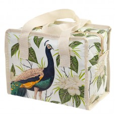 Peacock Design Zip Up Recycled Plastic Reusable Lunch Bag